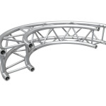 "Cosmic Truss F34 12"" Inch 180 degree Curved Square Box Truss"