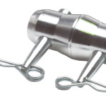 Conical connector w/2 cotter pins & R-clip