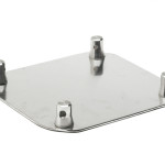 "F44BASE Cosmic Truss 16""X 16"" aluminum base plate for F44 square lengths with 4 half conical"