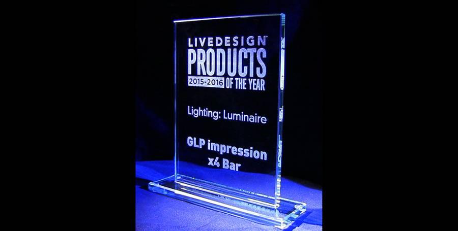 GLP Live Design X Bar  Award Banner